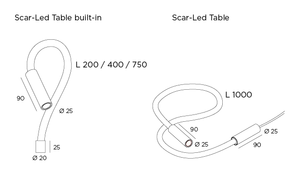 Scar-Led Table